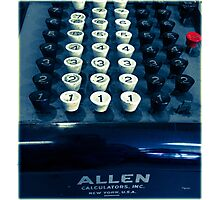 Allen Can Count  Photographic Print