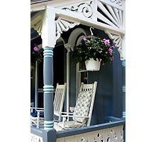 GINGERBREAD PORCH Photographic Print