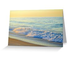 Atlantic Ocean Beach In The Morning | Smith Point, New York  Greeting Card