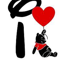 I Heart Pooh Bear by ShopGirl91706