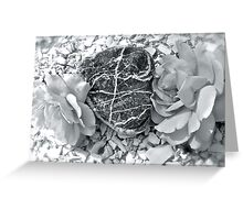 Heart Of Stone - Amongst the Roses - Found on the Beach Greeting Card