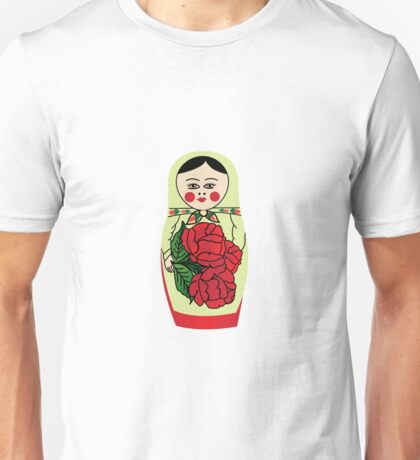 Russian matryoshka doll (green) Unisex T-Shirt