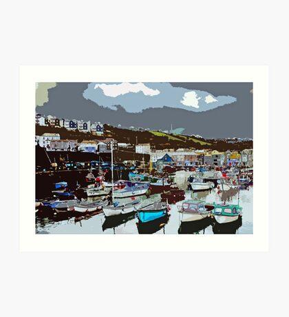 Mevagissey Harbour Art Print