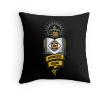"""""""KNOWLEDGE IS KING"""" Throw Pillow"""