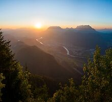 Summer Sunrise above the Valley by Christoph Kühne