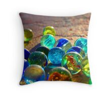 Used Marbles Throw Pillow