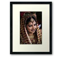Beautiful Bride Saloni Framed Print