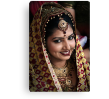 Beautiful Bride Saloni Canvas Print
