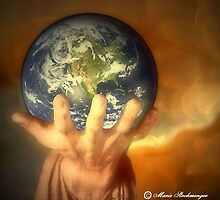 The world in your hand by Marie Luise  Strohmenger