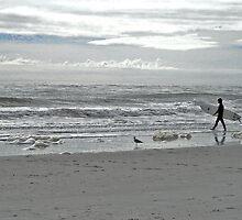 Folly Beach surfer by jstoeber