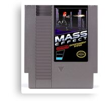 Mass Effect - Now for NES! Canvas Print