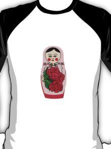 Russian matryoshka doll (red) T-Shirt