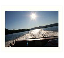 Lake George Wake Art Print