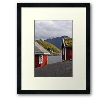 Red homes Framed Print