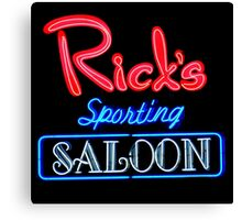 NightLife : Rick's Sporting Saloon Canvas Print