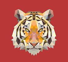 Geometric Tiger by KingdomofArt