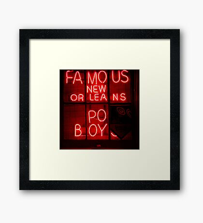 NightLife : Po' Boys Framed Print