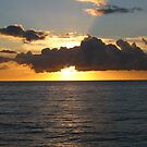 Sunset over Aberaeron beach, mid Wales. by millymuso