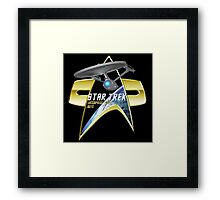 StarTrek Enterprise Refit Com badge 2 Framed Print