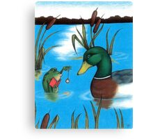 Frog Hypnotist - When Catching Flies Gets Boring Canvas Print