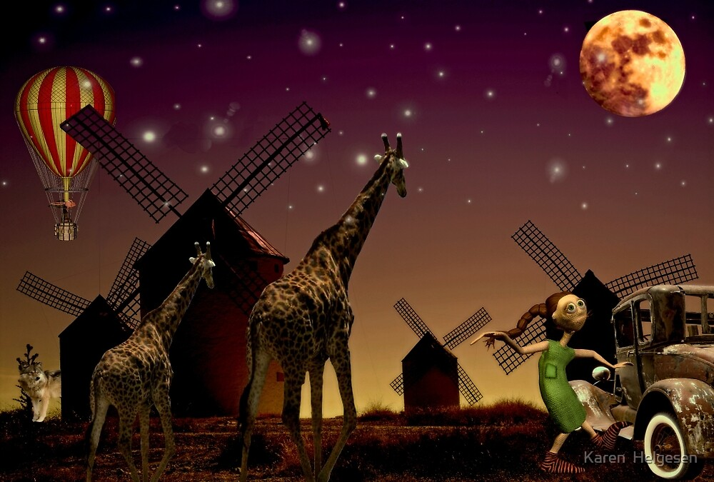On a Full Moon's Night.... by Karen  Helgesen
