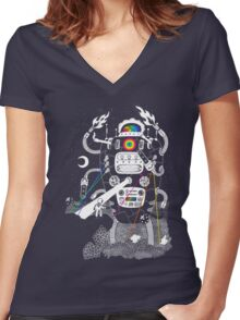 Behold my Wrench, Destructron! Women's Fitted V-Neck T-Shirt