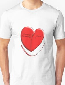 Romantic Tee with text T-Shirt
