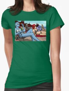 Mass Effect Cartoon - Ladies' Day Off Womens Fitted T-Shirt