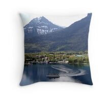 Waterton Lake Cruise Throw Pillow