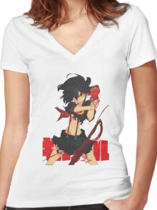 Ryūko Matoi Women's Fitted V-Neck T-Shirt