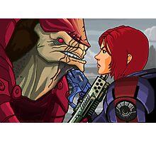 Mass Effect - Wrex vs. Shepard Photographic Print