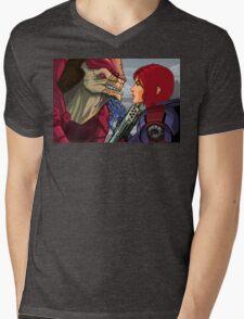 Mass Effect - Wrex vs. Shepard Mens V-Neck T-Shirt