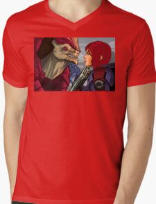 Mass Effect - Wrex vs. Shepard Mens V-Neck T-Shirt