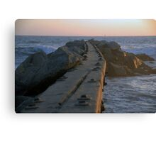 Gnarly Wooden Jetty Canvas Print