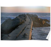 Gnarly Wooden Jetty Poster