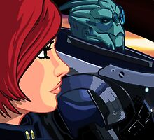 Mass Effect Cartoon - Old Friends by GHaskell