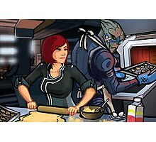 Mass Effect Cartoon - Cookie Time Photographic Print