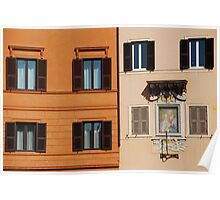 Windows of Piazza Navona ! Poster