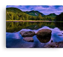 reflections of avalanche Canvas Print