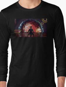 Mass Effect Cartoon - The Illusive Man Long Sleeve T-Shirt