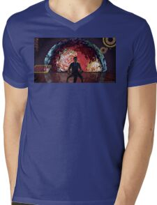 Mass Effect Cartoon - The Illusive Man Mens V-Neck T-Shirt