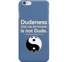 Dude de Ching V1 iPhone Case/Skin