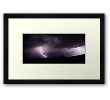 More Tstorm rain Framed Print