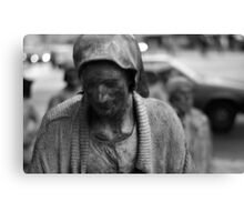 statue of old lady Canvas Print