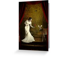 Behind the Curtain... Greeting Card