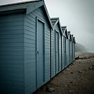 chalmouth  beach huts by Tony Day