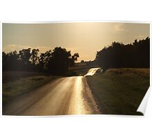 Golden Hour on Lover's Lane Poster