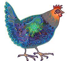 Blue Chicken by Vicky Stonebridge