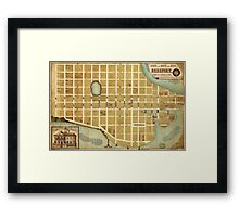 Map of the City of Beaufort South Carolina (1860) Framed Print