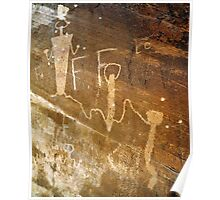 Vandalized Native American Rock Art Poster
